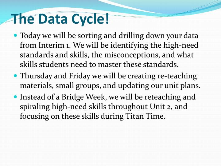 The data cycle
