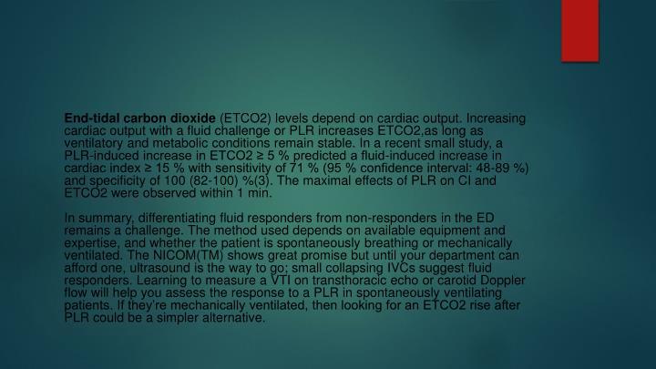 End-tidal carbon dioxide
