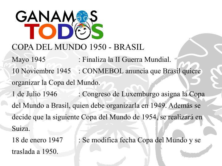 COPA DEL MUNDO 1950 - BRASIL