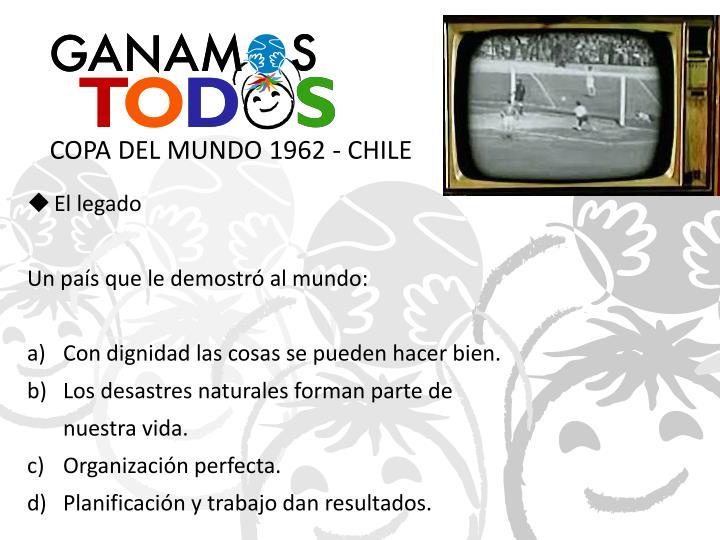 COPA DEL MUNDO 1962 - CHILE