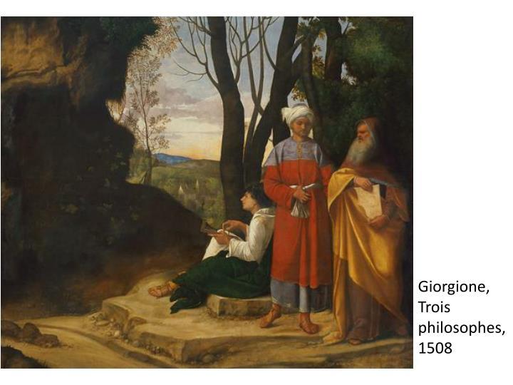 Giorgione, Trois philosophes,