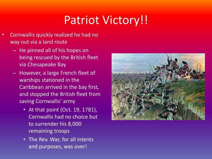 Patriot Victory!!