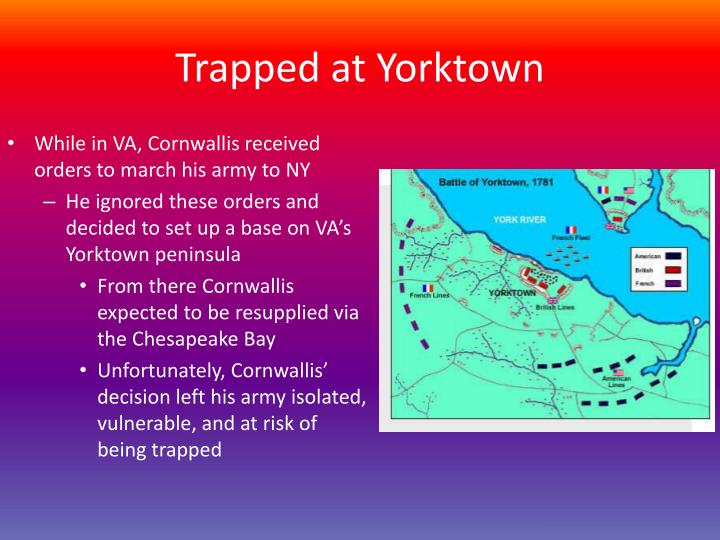 Trapped at Yorktown