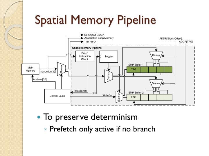 Spatial Memory Pipeline