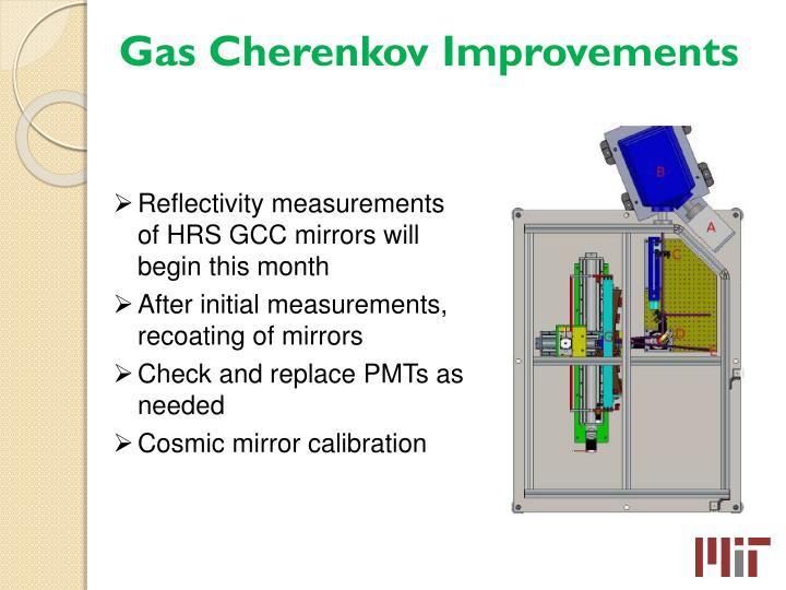 Gas Cherenkov Improvements