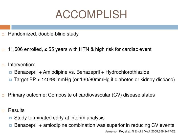 Benazepril plus Amlodipine or Hydrochlorothiazide for ...