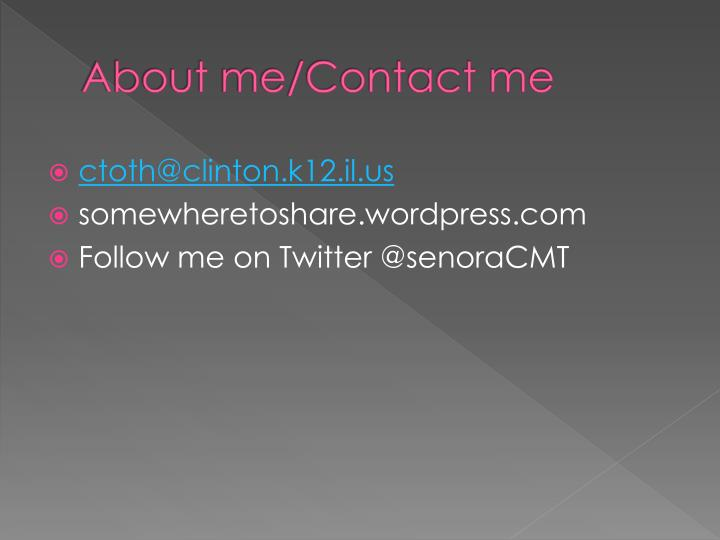About me/Contact me
