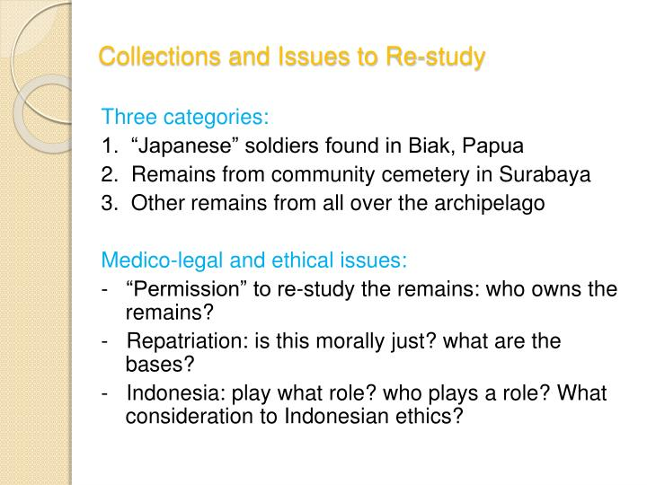 Collections and Issues to Re-study