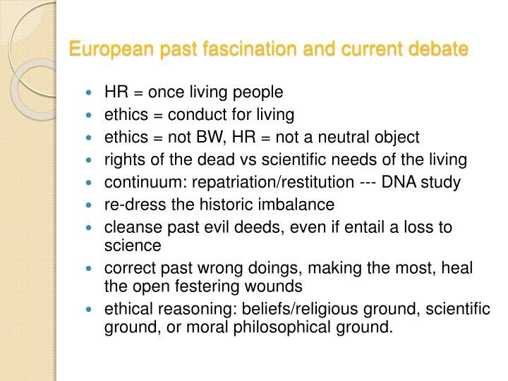European past fascination and current debate
