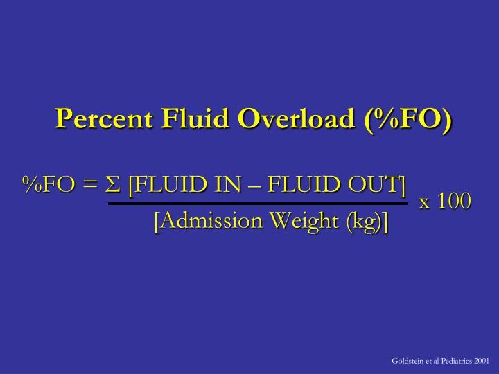 Percent Fluid Overload (%FO)