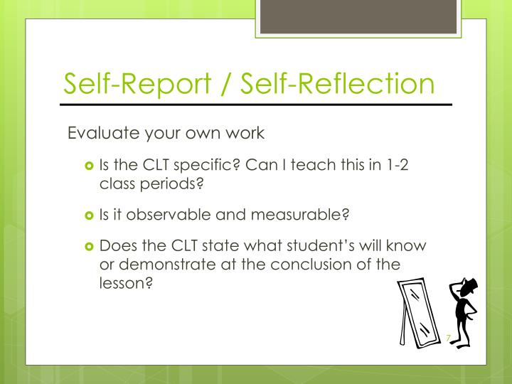 Self-Report / Self-Reflection