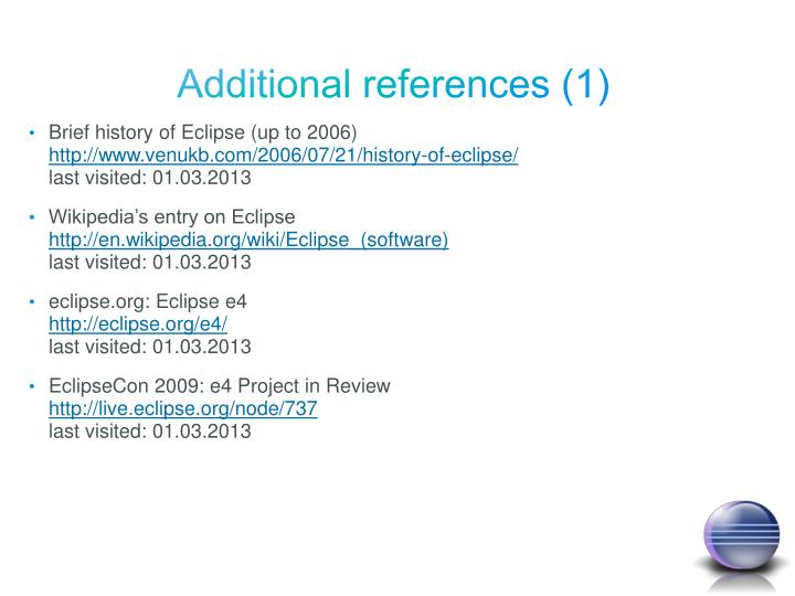 Additional references (1)
