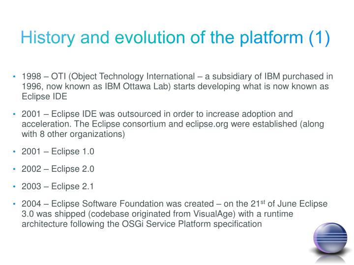 History and evolution of the platform (1)