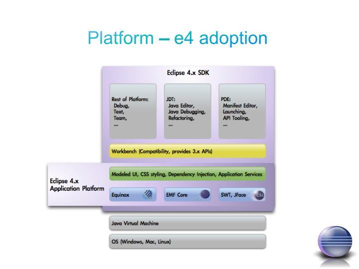 Platform – e4 adoption
