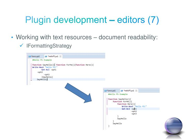Plugin development – editors