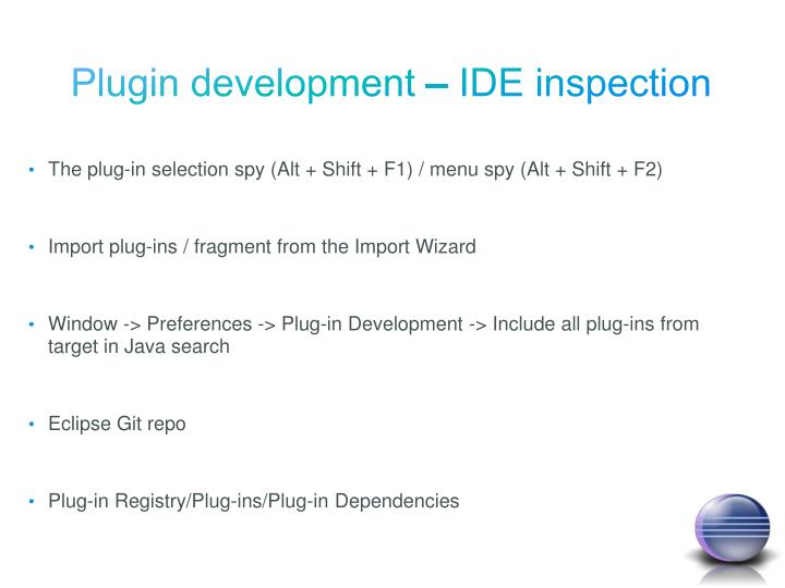 Plugin development – IDE inspection