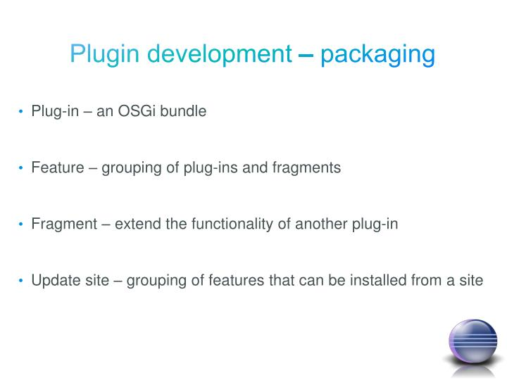 Plugin development – packaging