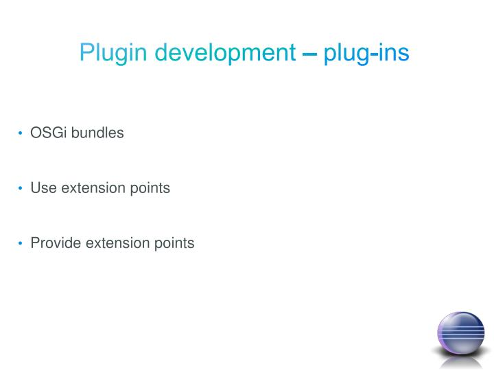 Plugin development – plug-ins