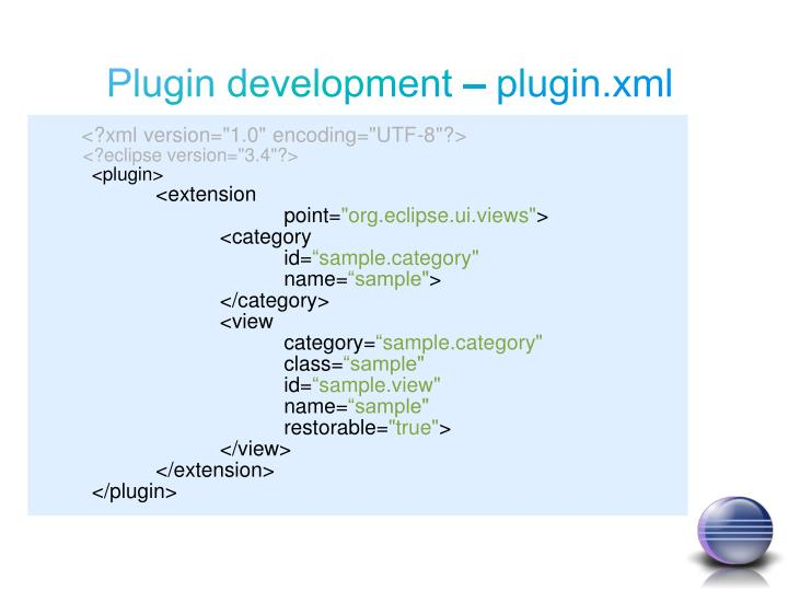 Plugin development – plugin.xml