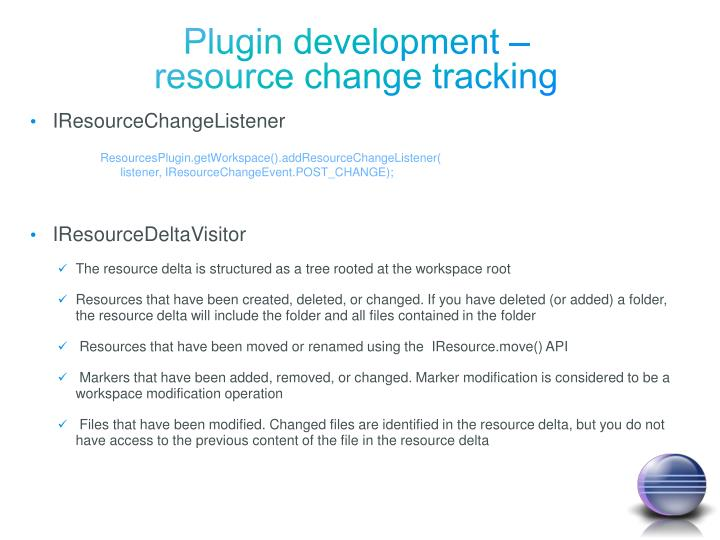 Plugin development –