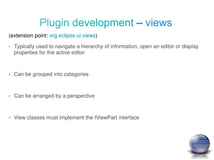 Plugin development – views
