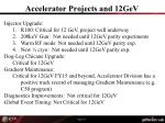 accelerator projects and 12gev
