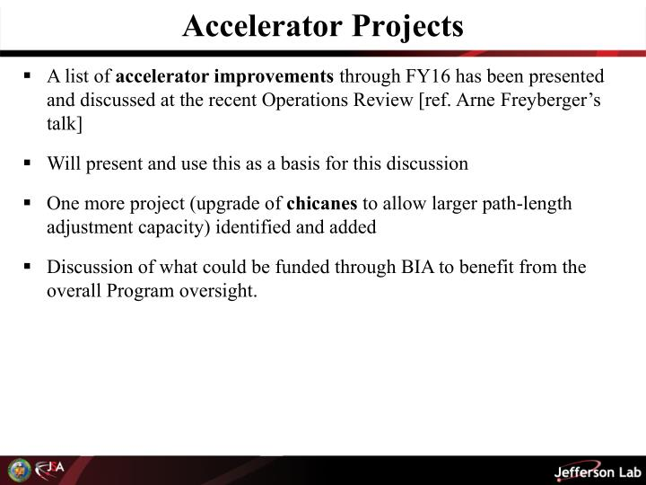Accelerator Projects