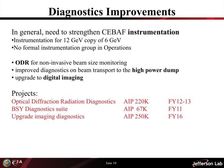 Diagnostics Improvements