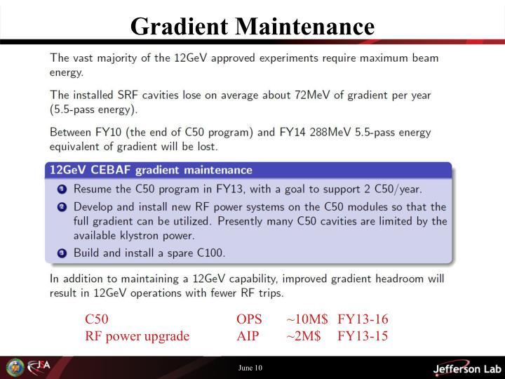 Gradient Maintenance