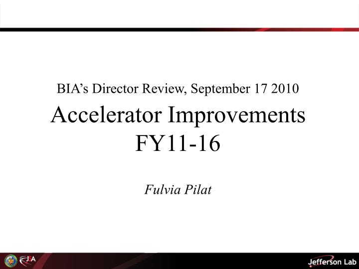 BIA's Director Review, September 17 2010