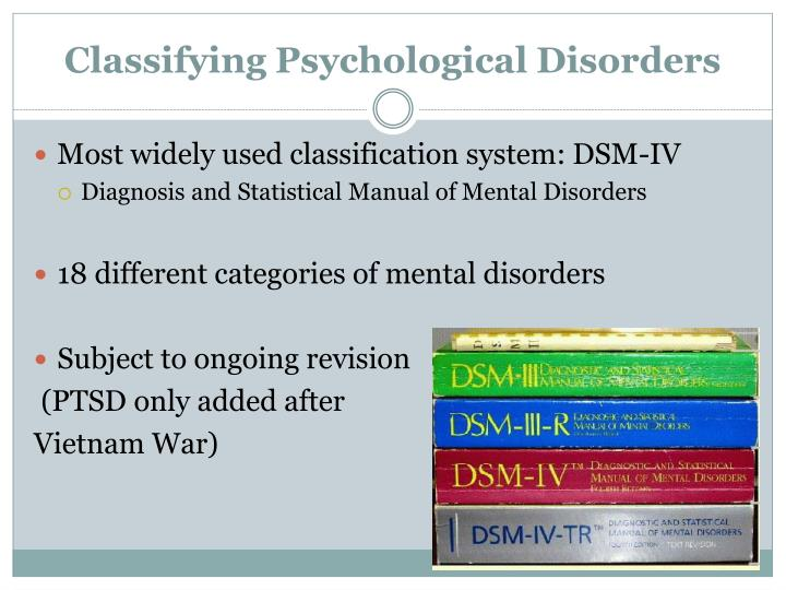 Classifying Psychological Disorders