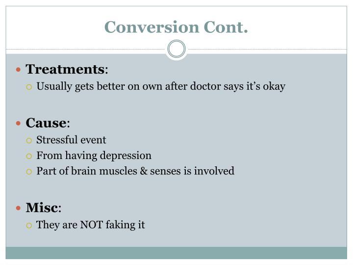 Conversion Cont.