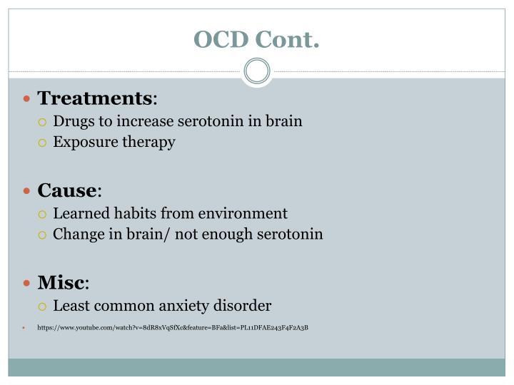 OCD Cont.