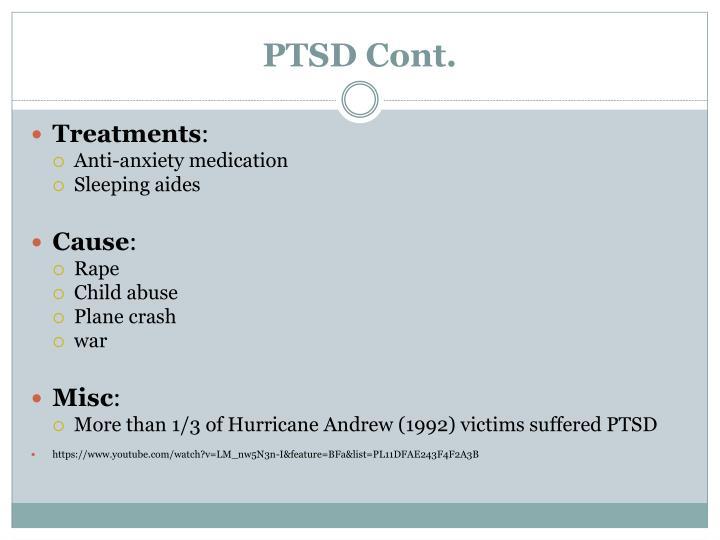 PTSD Cont.