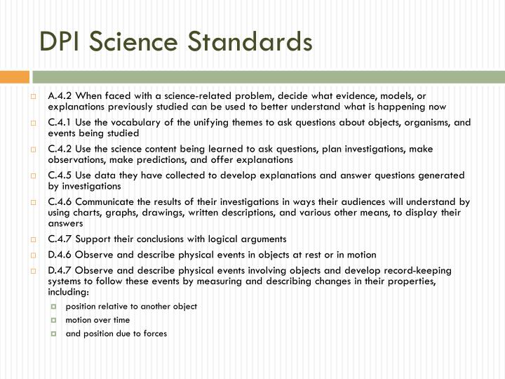 DPI Science Standards