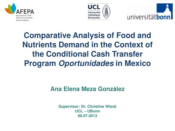 Comparative Analysis of Food and Nutrients Demand in the Context of the Conditional Cash Transfer Pr...