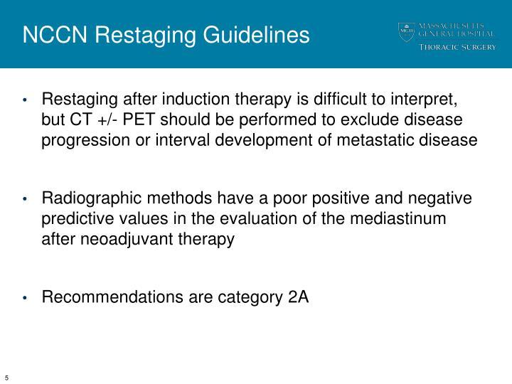 NCCN Restaging Guidelines