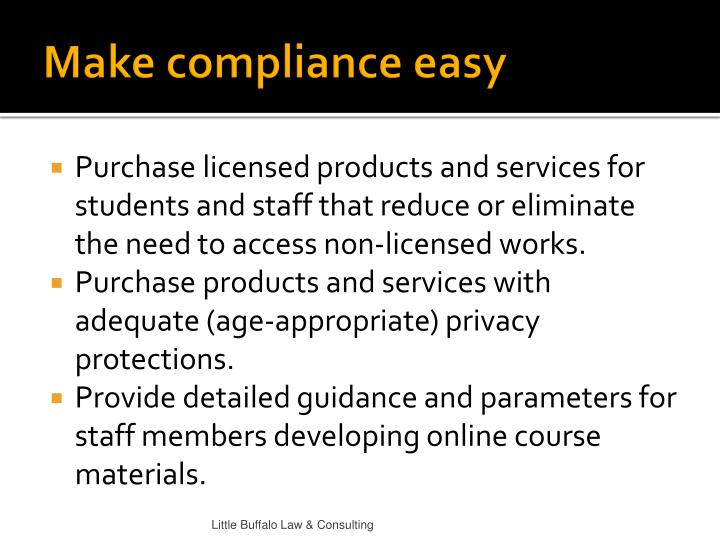 Make compliance easy