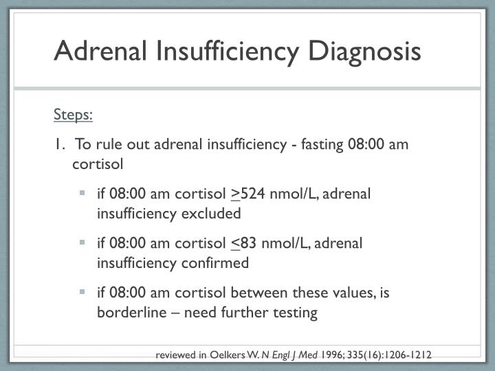 Adrenal Insufficiency Diagnosis