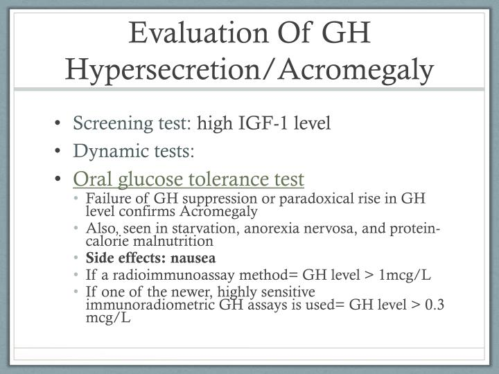 Evaluation Of GH