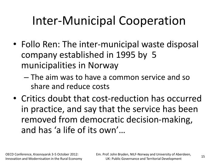 Inter-Municipal Cooperation
