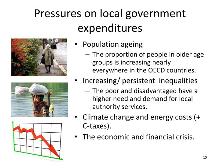 Pressures on local government expenditures