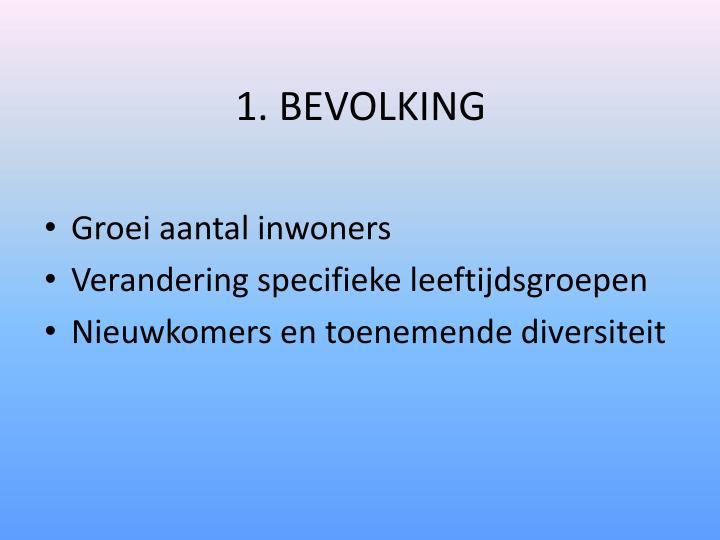 1. BEVOLKING