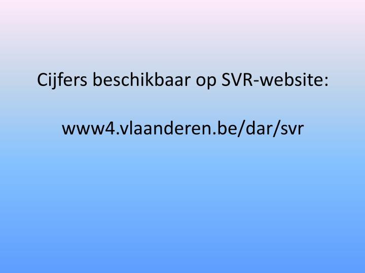 Cijfers beschikbaar op SVR-website: