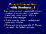 direct interaction with students 2