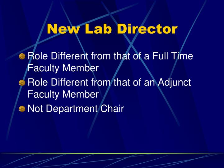 New Lab Director