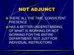 not adjunct