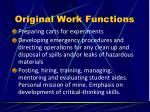 original work functions