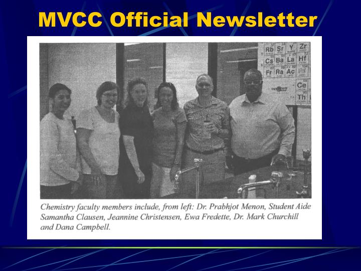 MVCC Official Newsletter