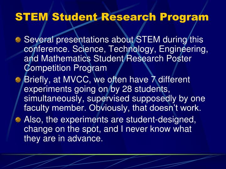 STEM Student Research Program